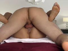 Lovely couple having sensual sex at home