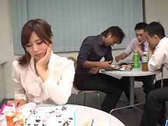 Yumi Maeda starts having sex at work with her colleagues