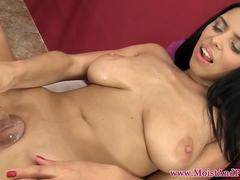 Big titted beauty spreads and toys her pussy