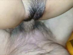Hairy Mature couple having sex - CLOSEUP