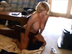 Mature wife forcing a BBC to lick her pussy