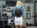 Throatfucked casting babe fucked rough by bbc