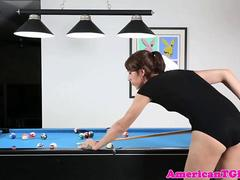 Solo playing tgirl assfucked with sexmachine