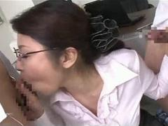 Mature Japanese Teacher And Younger Students
