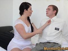 Throating mormon cougar