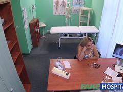 FakeHospital Buxom Russian babe swallows cumload after hard fucking
