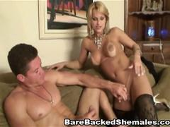 Hot Sexy Shemale Gets Bareback Fuck and Good Suck