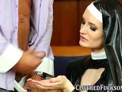 Lucky guy drills perverted nuns in a steamy foursome