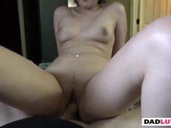 Naughty Dad have crush on step daughter Jeleana Marie