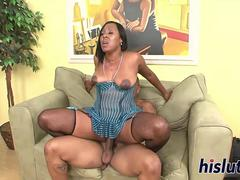 Bootylicious ebony starlet has her pussy plowed