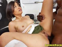 Innocent japanese anal pounded with bbc