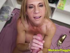 Bigtit mature pov stroking young blokes cock
