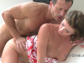 Busty Milf continue fuck after creampie