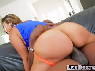 tiny chick in mini skirt reena sky gets hammered by lexington steele