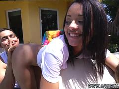 Ebony teen cheating the phone and showing ass hole public first time Holly Hendrix Has