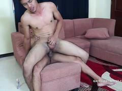 Asian Boys Gilbert and Kris Bareback Fuck