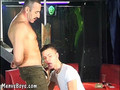 Skillful card player bangs twinky loser in the mouth
