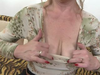 horny older lady fooling around with a youngster