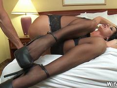Wife trades for another Cock