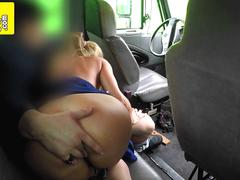Big titted blonde MILF getting slammed hard in POV by a truck driver!