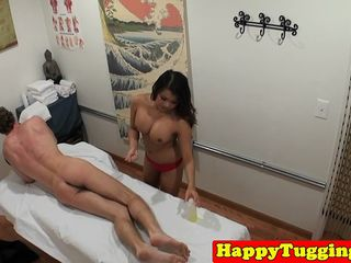 asian masseuse tugs and cockrides client clip