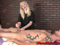 Rough masseuse dominates customer with hj