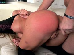 Petite blonde Amy Brooke in a kinky wild hardcore sex