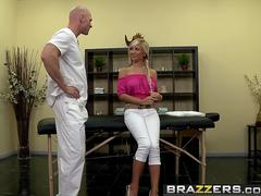 Brazzers - Baby Got Boobs - Full Body Massage scene starring Tasha Reign and Johnny Sins