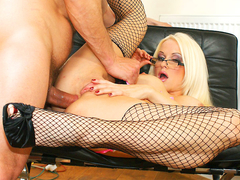Stacy silver is amazing in her fisnets movie