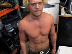 Hot surfer sells his ass for pawnshop cash