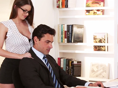 Humongous tits Brooklyn getting fucked at the office by her boss