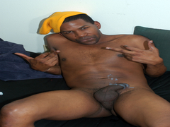 black gay playing his dick masturbate hard film
