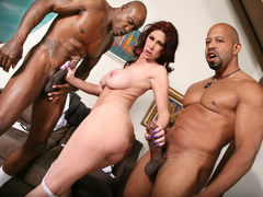 MILF Tiffany Mynx Takes Two BIg Black Cocks