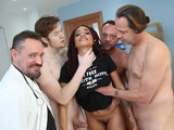 Ebony Julie Kay Gangbanged and Creampied