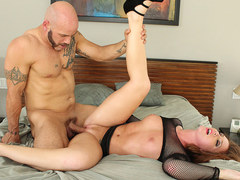 TEENGONZO Redhead Maddy Oreilly good pounding on the bed